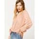 SKY & SPARROW Open Weave Chenille Womens Sweater