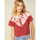 WEST OF MELROSE Tie Dye For Womens Boxy Tee
