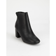 DELICIOUS Clean Ankle Stacked Black Womens Boots