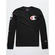 CHAMPION C Logo Black Boys T-Shirt