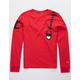 CHAMPION Shoulder Script Red Boys T-Shirt