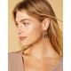 WEST OF MELROSE Hoop Marble Drop Earrings