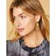 WEST OF MELROSE Geometric Faux Leather Drop Earrings