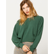 SKY AND SPARROW Ribbed Dolman Green Womens Tee