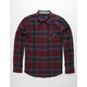 OCEAN CURRENT Lavell Red Mens Flannel Shirt