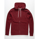 INDEPENDENT TRADING COMPANY Burgundy Mens Zip Hoodie