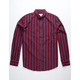 VSTR Oxford Stripe Burgundy Mens Shirt