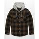 VSTR Buffalo Mens Hooded Flannel Shirt