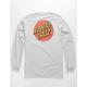 SANTA CRUZ Classic Dot Silver Mens T-Shirt