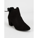 QUPID Chop Out Black Womens Booties