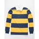 VSTR Dropout Rugby Navy & Yellow Polo Shirt