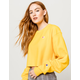 CHAMPION Reverse Weave Gold Womens Crop Sweatshirt