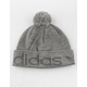 ADIDAS Original Cuff Pom Heather Gray Mens Beanie