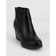 SODA Pesto Ankle Wedge Womens Booties