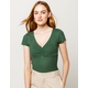 IVY + MAIN Solid Cinch Hunter Green Womens Thermal
