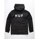 HUF Standard Shell 2 Black Mens Windbreaker Jacket
