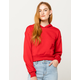 FULL TILT Fleece Crop Red Womens Hoodie