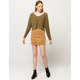 SKY AND SPARROW Corduroy Seamed Mini Skirt