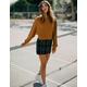 SKY AND SPARROW Plaid Porkchop Pocket Womens Mini Skirt