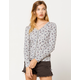 COCO & JAIMESON Long Sleeve Rib Womens Top