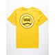 VANS Checkered Side Stripe Mustard Mens T-Shirt