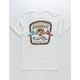 SALT LIFE Aquaholic Flags White Mens Pocket T-Shirt
