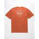 BRIXTON Stith Orange Mens T-Shirt