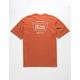 BRIXTON Stith Orange Mens T-Shirt