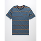 DISTORTION Mini Stripes Mens T-Shirt