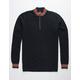 RETROFIT Mock Neck Quarter Zip Mens Sweater