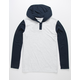 RVCA Pick Up Navy Boys Lightweight Hooded Henley