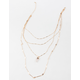 FULL TILT Layered Crystal & Coin Necklace