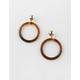 FULL TILT Circle Tortoise Earrings