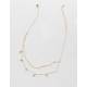 FULL TILT Layered Dainty Triangle Necklace