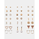 FULL TILT 20 Pack Hoop Triangle & Pearl Earrings