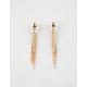 FULL TILT Rhinestone Bar & Chain Earrings