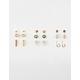 FULL TILT 9 Pairs Mini Hoops & Heart Stud Earrings