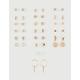 FULL TILT 20 Pack Pearl & Hoop Earring Set