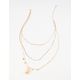 FULL TILT Layered Shell & Coin Necklace