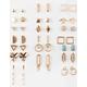 FULL TILT 20 Pairs Rhinestone/Bird Earrings