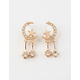 FULL TILT 6 Piece Moon Star & Rhinestone Earring Set
