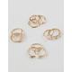 FULL TILT 11 Piece Moonstone & Rhinestone Ring Set