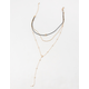 FULL TILT Layered Moon Chain Necklace