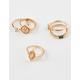FULL TILT 5 Piece Signet & Rhinestone Rings