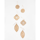 FULL TILT 3 Pairs Filigree Earrings