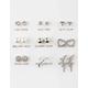 FULL TILT 9 Pairs Heart/Hoop Earrings