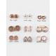 FULL TILT 9 Pairs Heart/Rhinestone Earrings