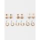 FULL TILT 9 Pairs Rhinestone/Hoop Earrings
