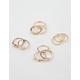 FULL TILT 11 Piece Moonstone & Iridescent Rings