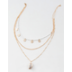 FULL TILT Layered Coin/Puka Shell Necklace